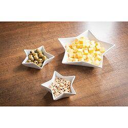 Conjunto de Petisqueira Estrela 3 pçs Branca – La Cuisine Basics