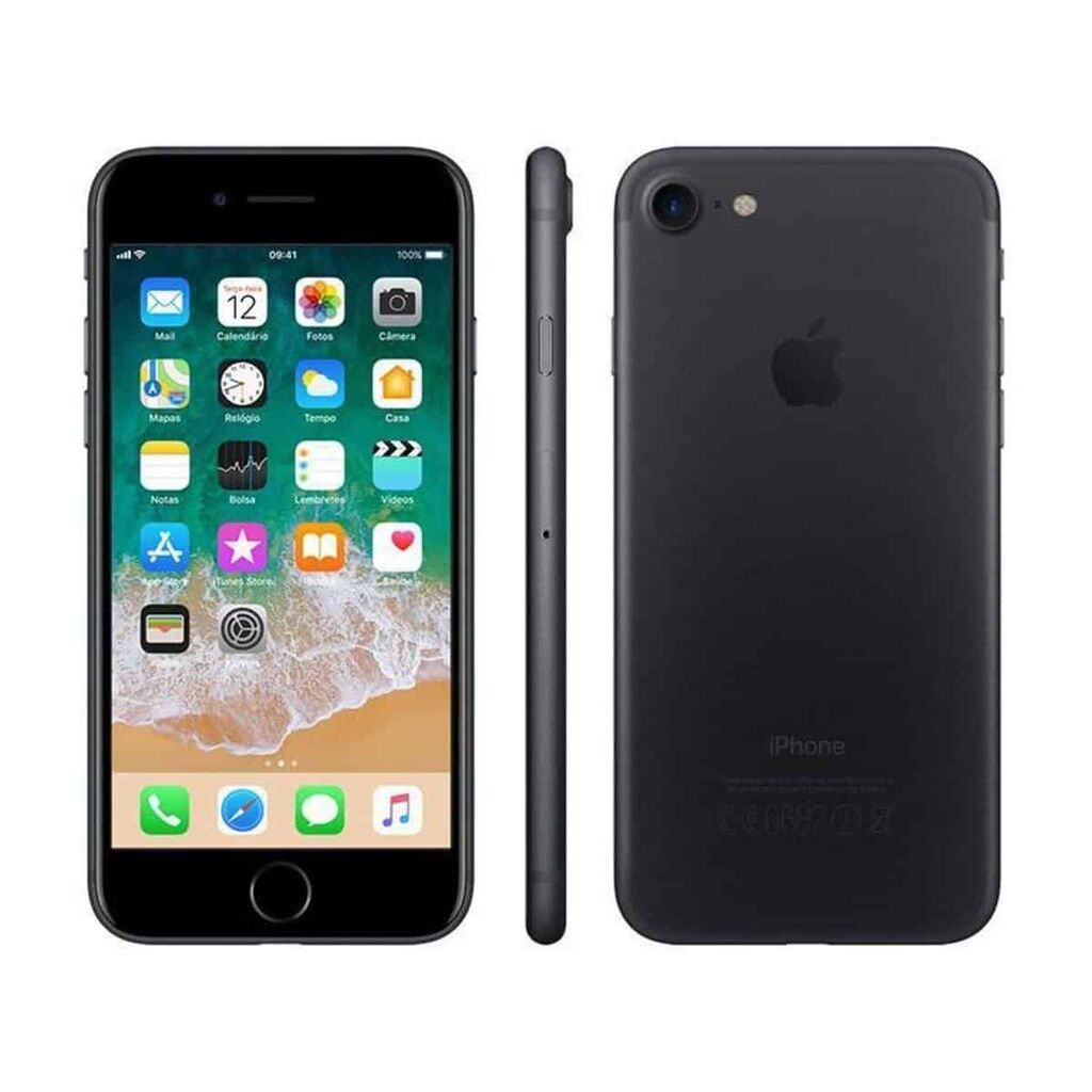 """iPhone 7 Apple 128GB Preto Matte 4G Tela 4.7"""" – Preto e Cinza"""