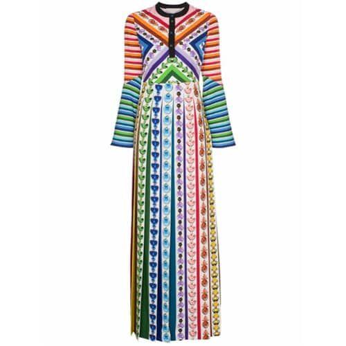 Mary Katrantzou Vestido longo estampado – 021 Rainbow Perfume
