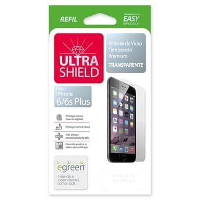 Película de Vidro iPhone 6 Plus / 6s Plus, eGreen, Ultra Shield