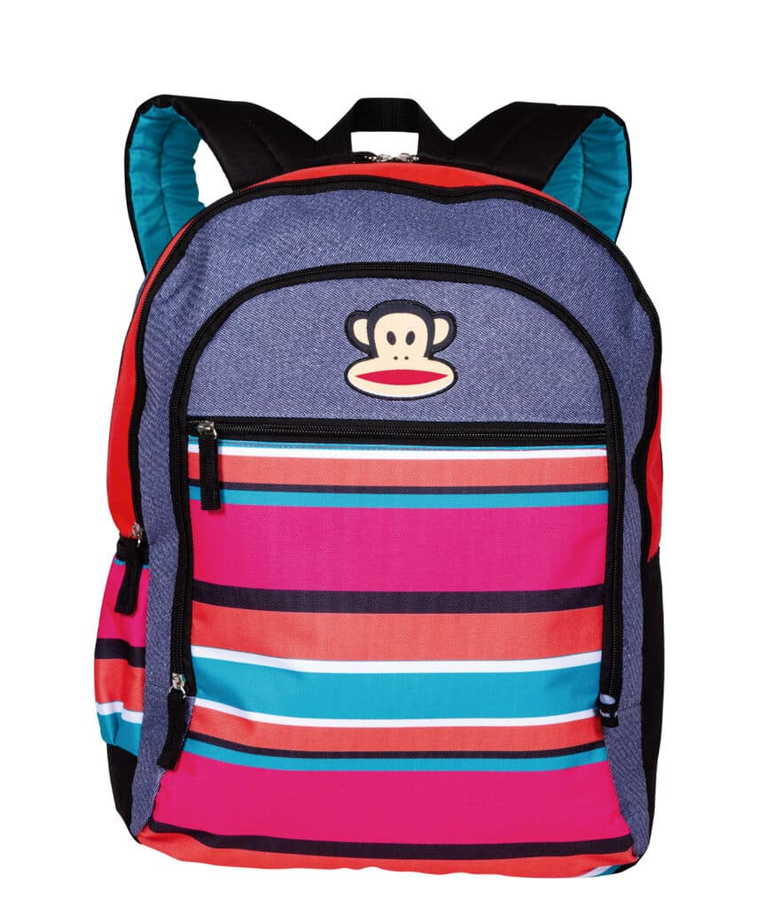 Mochila 2 Compartimentos Paul Frank 20T01 Patches