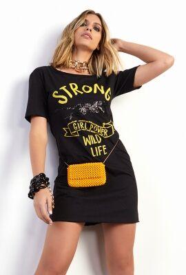 Vestido t-shirt estampado