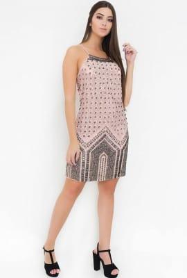 Vestido curto bordado
