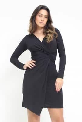 Vestido curto assimétrico