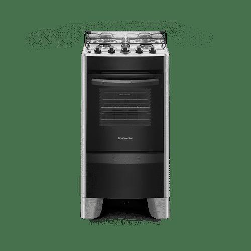 Fogão 4 Bocas Automático Prata com Mesa Compartimentada (FC4CS) – Bivolt