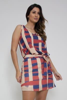 Vestido soltinho com faixa
