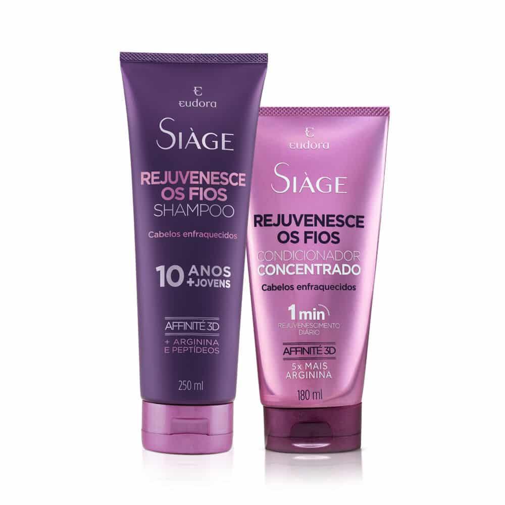 Kit Siàge Rejuvenesce os Fios Shampoo + Condicionador Concentrado