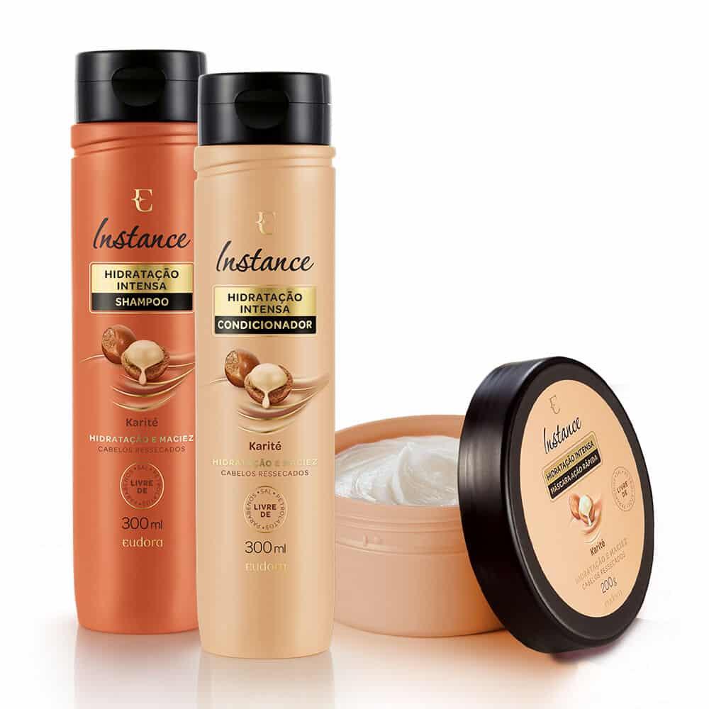 Kit Instance Karité Shampoo 300ml + Condicionador 300ml + Máscara 200g