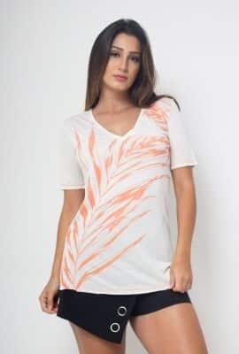 T-shirt manga curta com estampa localizada Viber