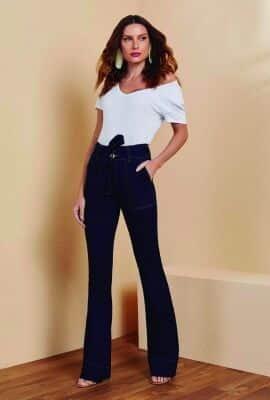 Calça jeans slim flare Viber