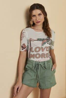 T-shirt em tule estampado com termocolante Viber