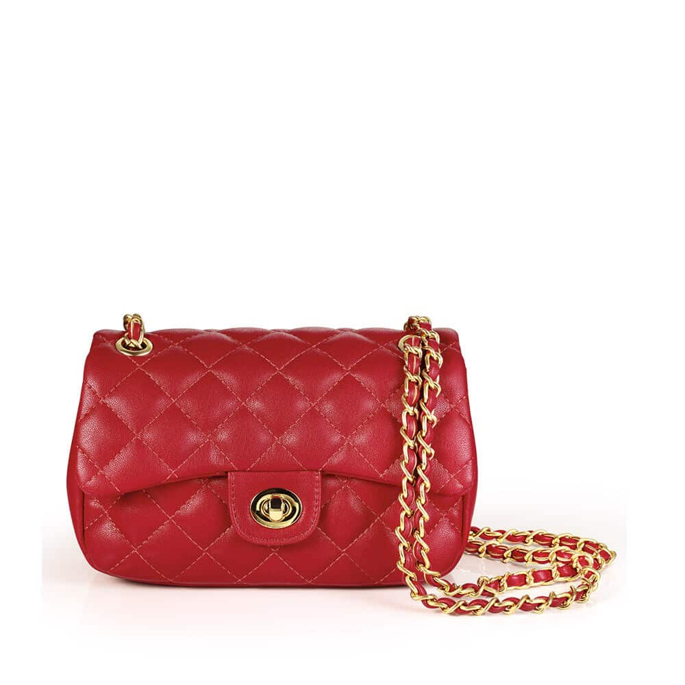 Bolsa Matelassê Vermelha Eudora