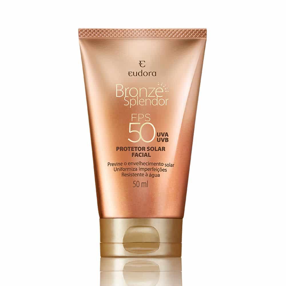 Protetor Solar Facial com Cor Bronze Splendor FPS50 50ml