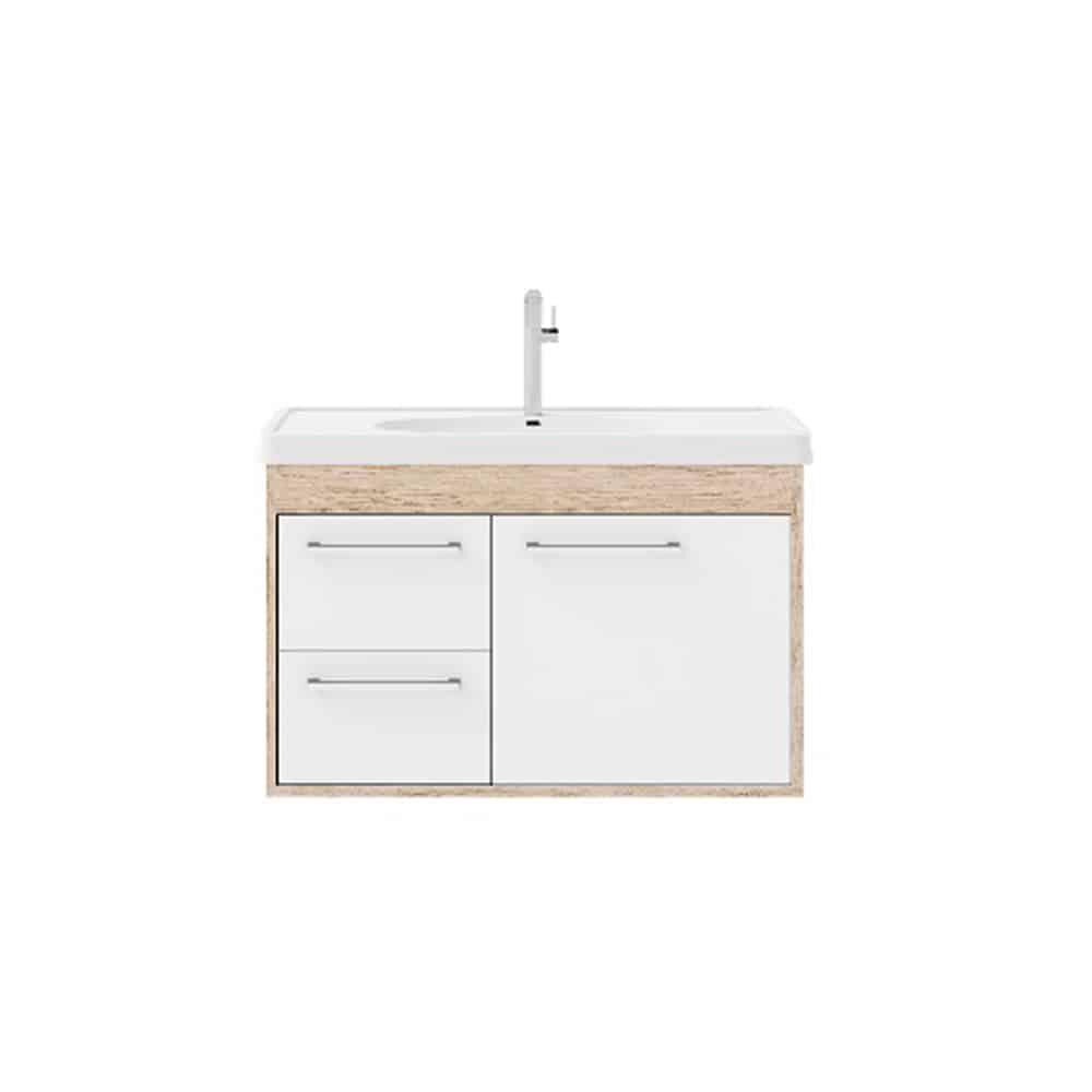 Gabinete de banheiro Cerocha com lavatório 63cm berlin e branco Prócion
