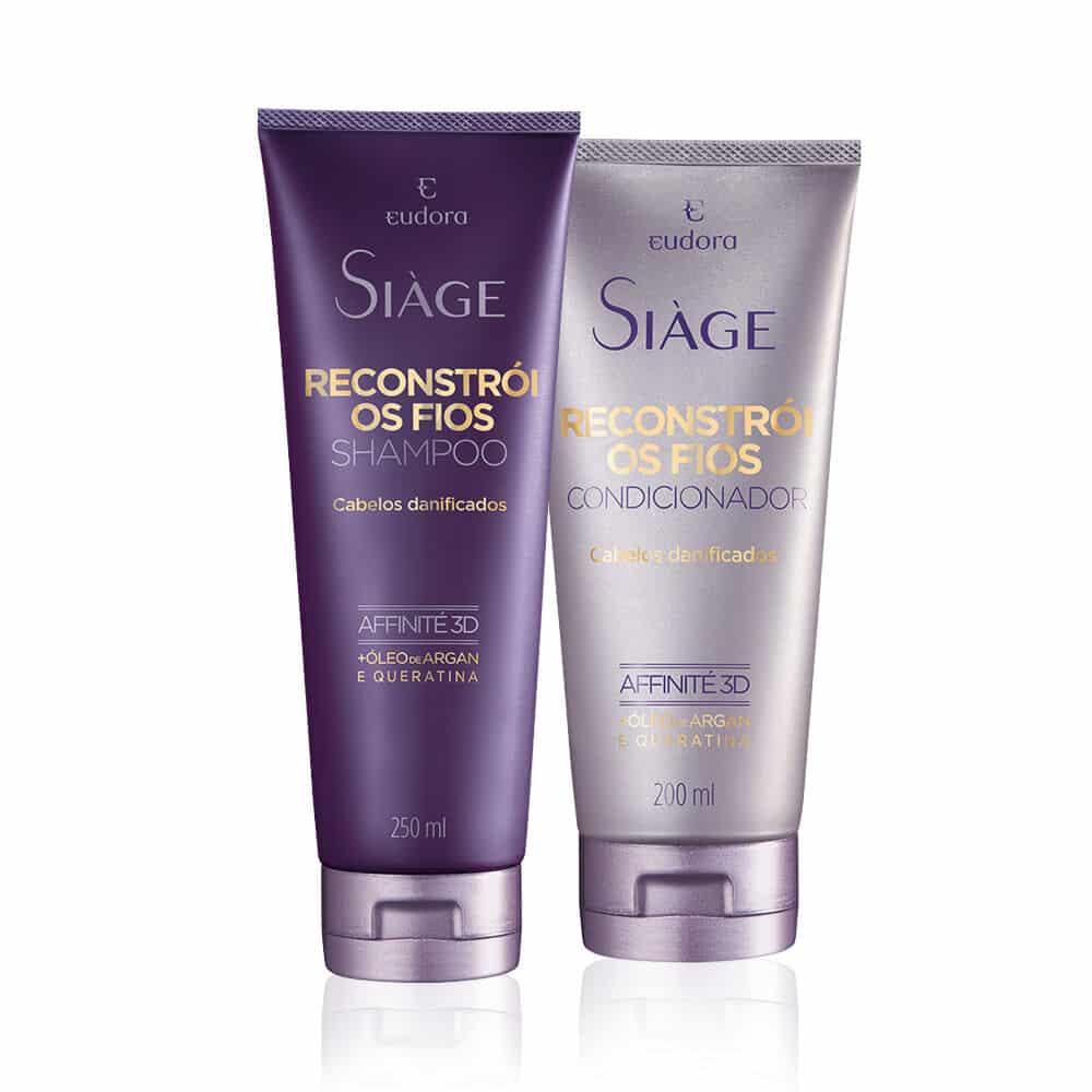 Kit Siàge Reconstrói os Fios: Shampoo + Condicionador