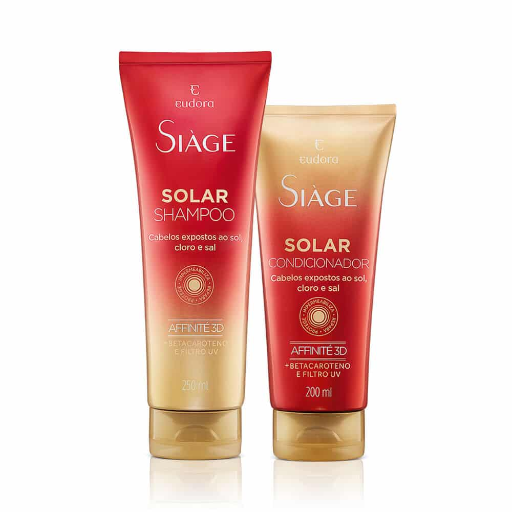 Kit Siàge Solar: Shampoo + Condicionador