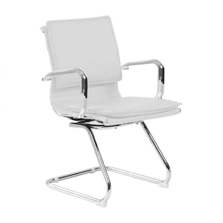 Cadeira de Escritório Interlocutor Fixa Eames Comfort Branca