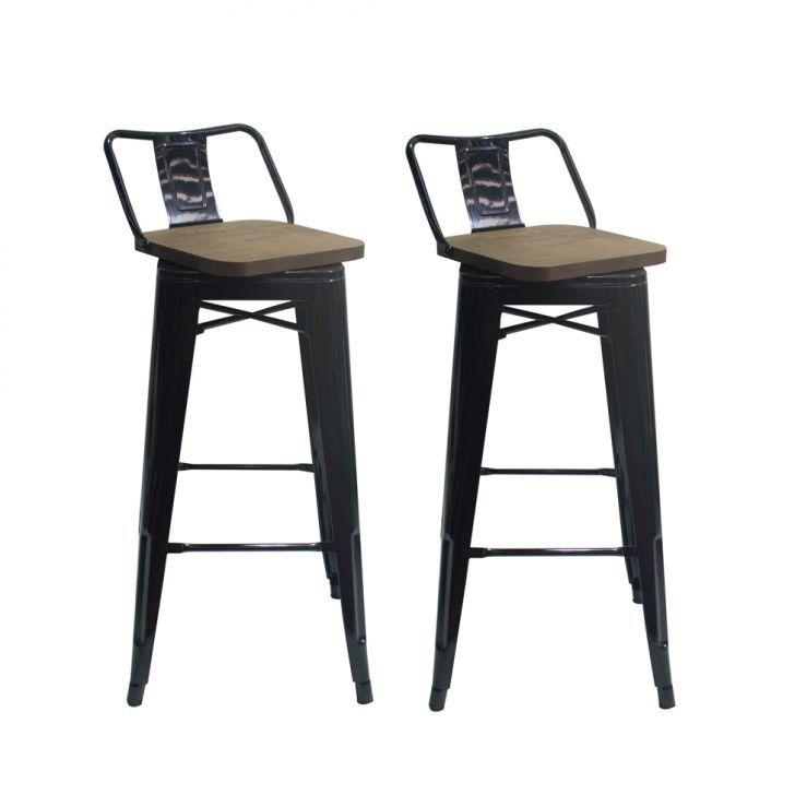 Conjunto com 2 Cadeiras de Jantar Siberian Tulipa Preto
