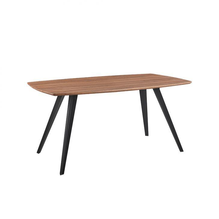 Mesa de Jantar Quadrada Tolix Natural e Preta 80 cm