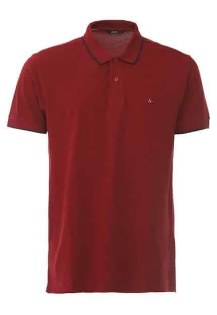 Camiseta Polo Aramis Frisos Vermelha