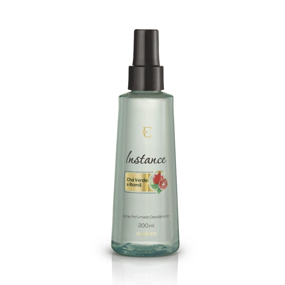Spray Desodorante Perfumado Instance Chá-Verde e Romã 200ml