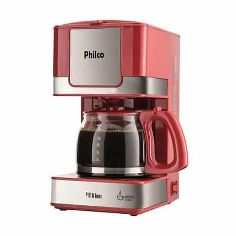 Cafeteira Elétrica Philco PH16 Vermelha e Inox 110V