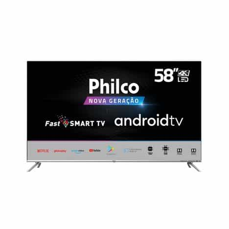 Smart TV LED 58″ Philco PTV58G71AGBLS UHD 4K Android TV