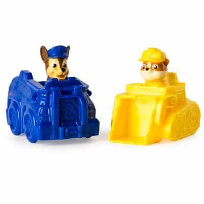 Mini Veículos – Patrulha Canina – Pack com 2 Carrinhos – Chase e Rubble – Sunny