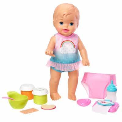 Boneca Bebê – Little Mommy – Faz Xixi Deluxe – Vesitdo Arco-Iris – Mattel