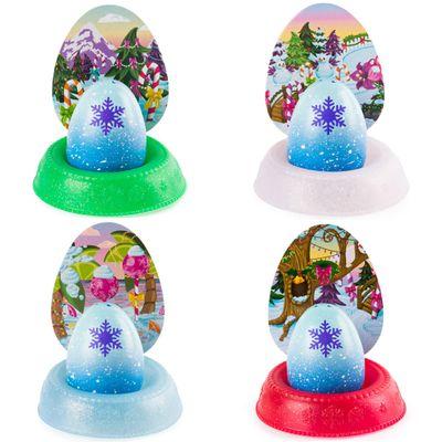 Kit Mini Figuras Surpresas e Acessórios – Hatchimals Colleggtibles – Mostre Seu Brilho – Azul, Branco, Verde e Vermelho – Sunny