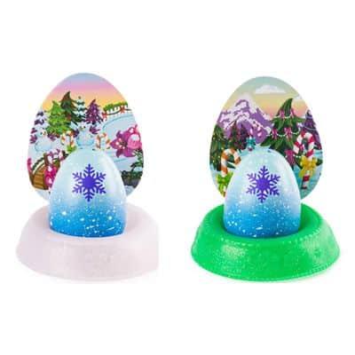 Kit Mini Figuras Surpresas e Acessórios – Hatchimals Colleggtibles – Mostre Seu Brilho – Branco e Verde – Sunny