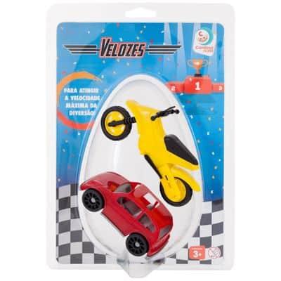 Mini Veículos – Velozes com Moto – Embalagem de Páscoa – Cardoso
