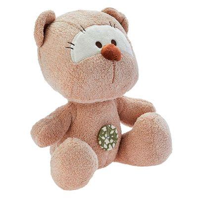 Pelúcia 22 CM – Ursinho com Botão – Bege – Love